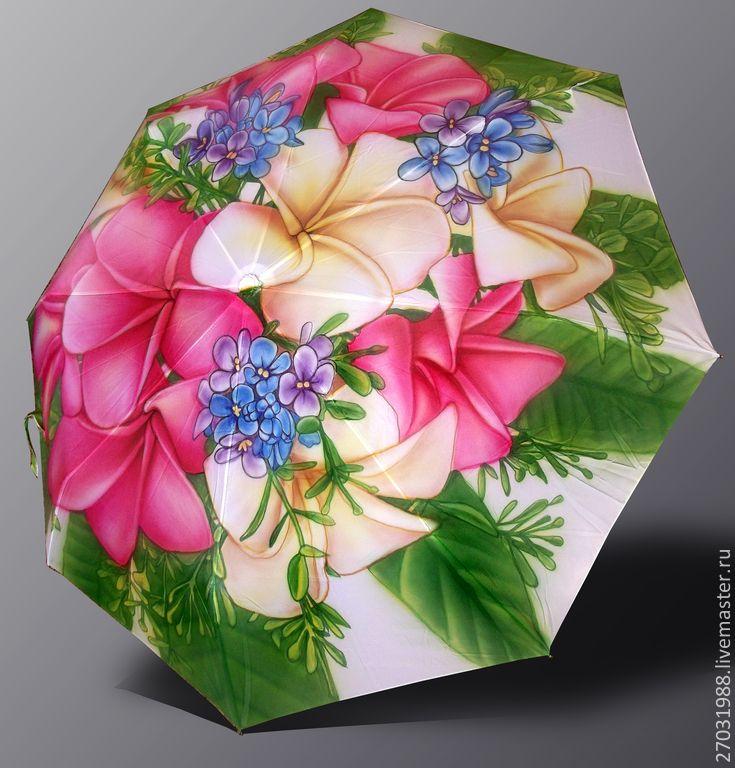 """Зонт с росписью """"Букет цветов"""" - рисунок,зонт,зонт с росписью,аэрография"""