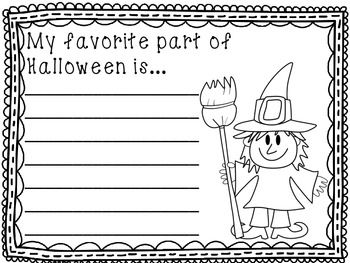 Halloween Writing Papers - includes 10 prompts. Great for morning work, a writing center, and early finishers.