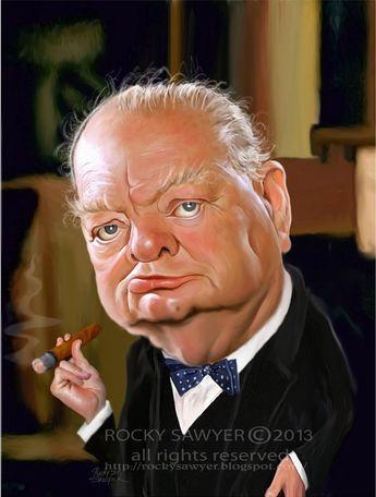 Caricatura de Winston Churchill
