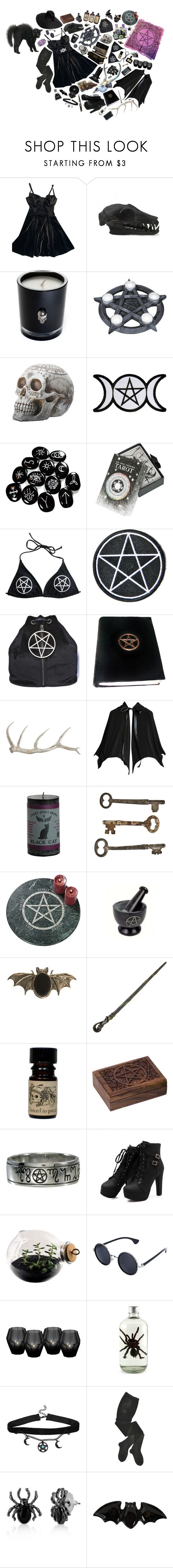 """""""witchcraft"""" by peachcarnage ❤ liked on Polyvore featuring American Apparel, Lisa Carrier, The Wild Unknown, Hollywood Mirror, Dolly Bae, Arteriors, Jayson Home, Maria Nilsdotter, Lolita Lempicka and Pieces"""