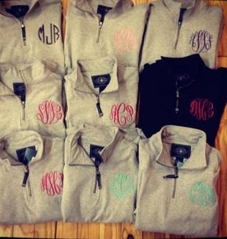 Monogram jackets awesome bridesmaids gifts