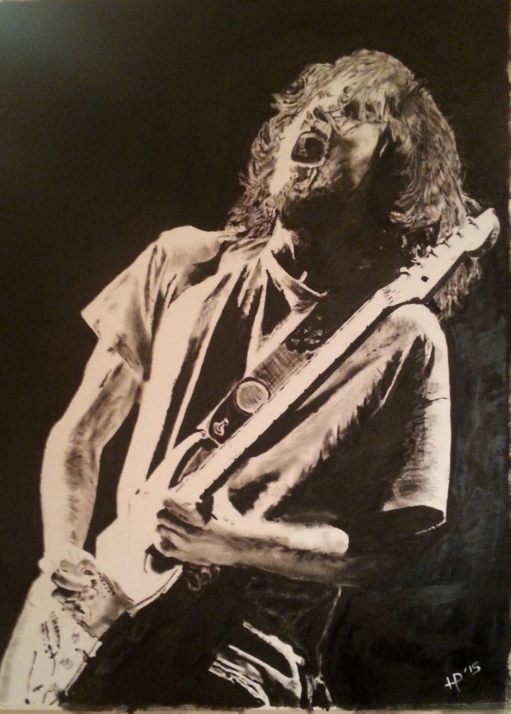 John Frusciante +H.P-Art + Oil Paint + Dry Brush + Home-made + Harm + Pelle + Eibergen