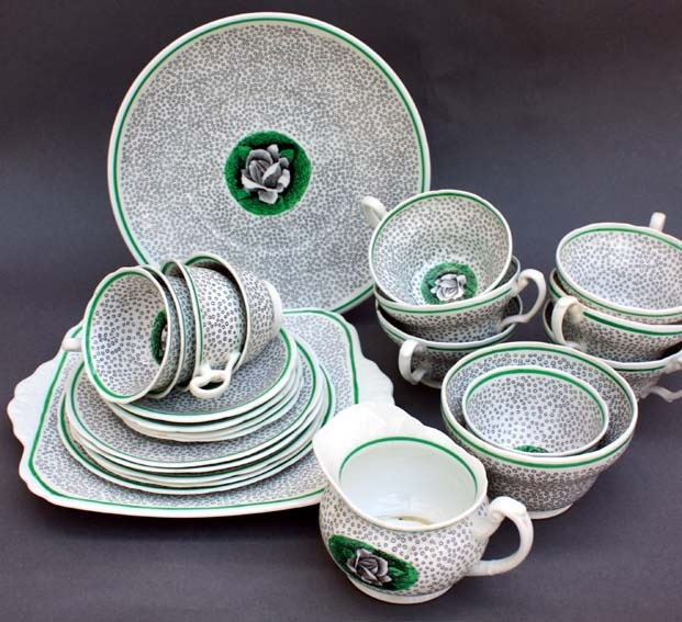 Graham Sutherland tea set foley china 1934. Now here's a surprise - I had no idea Sutherland was connected with ceramics.