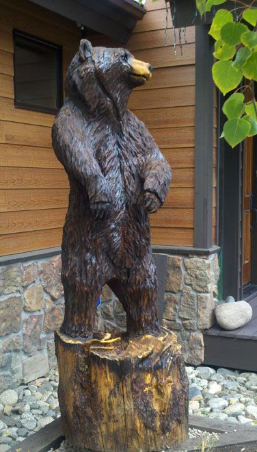 Chainsaw carvings bears and carving on pinterest