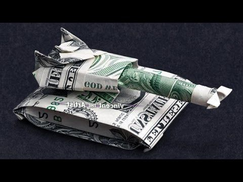 Money Origami MILITARY TANK - Dollar Bill Art
