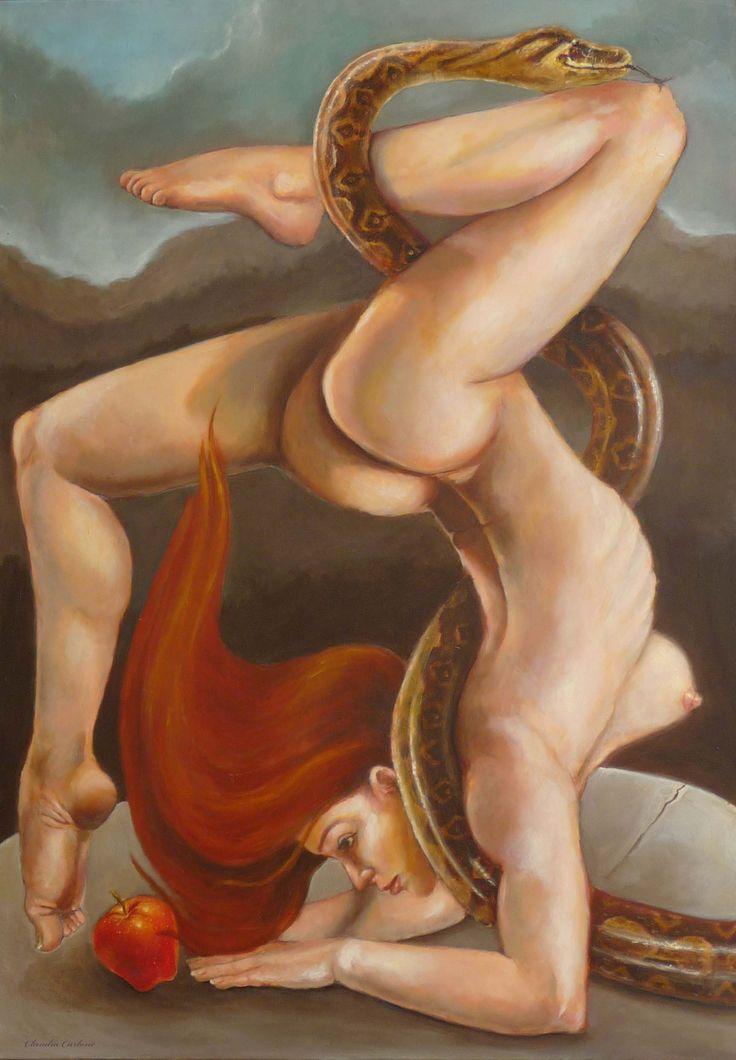 Caludia Carlone Eva (2013). Olio su tela