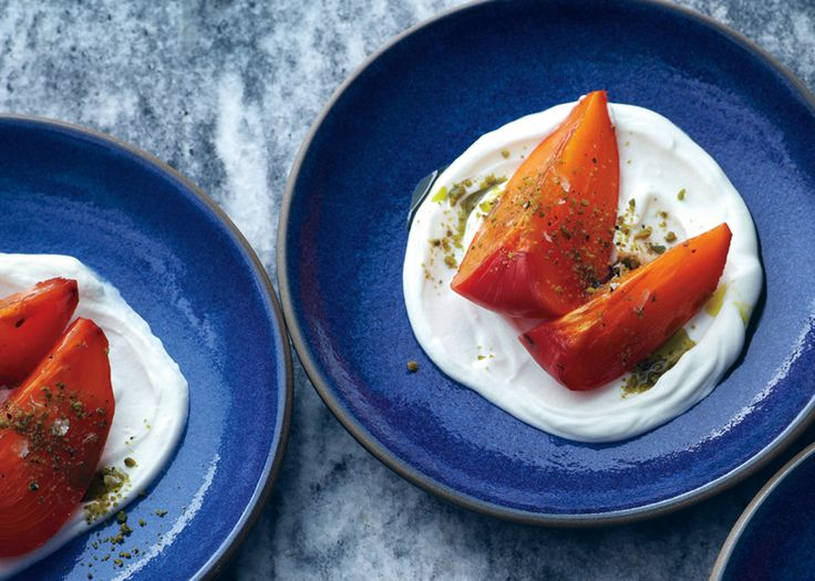 Gjelina chef Travis Lett prefers Hachiya persimmons for this fabulously simple dessert with greek yogurt and pistachios.