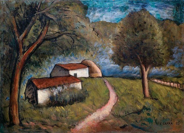 Carlo Carrà - Il mulino delle castagne, 1925. Oil on canvas