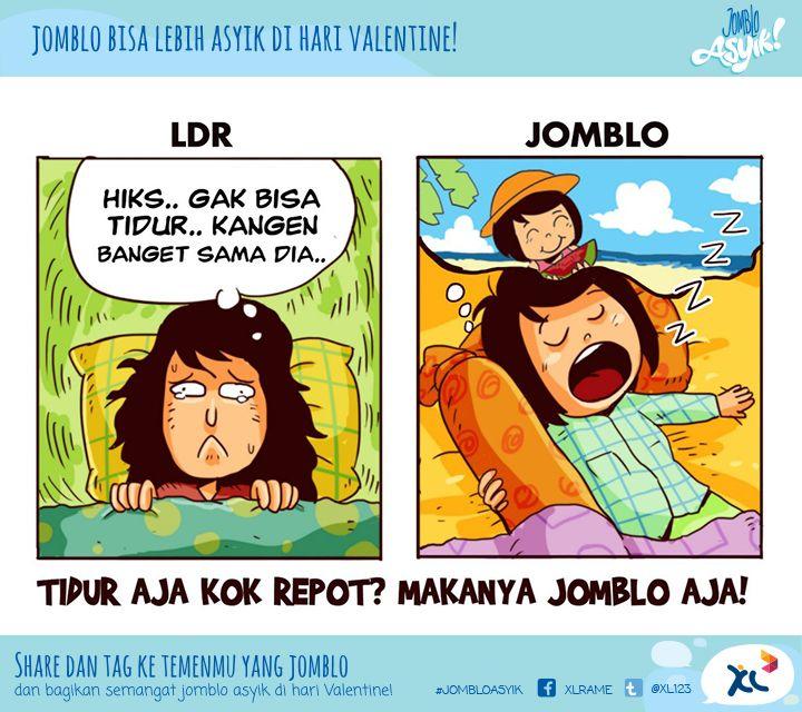 #JombloAsyik tidurnya ga repot! :D