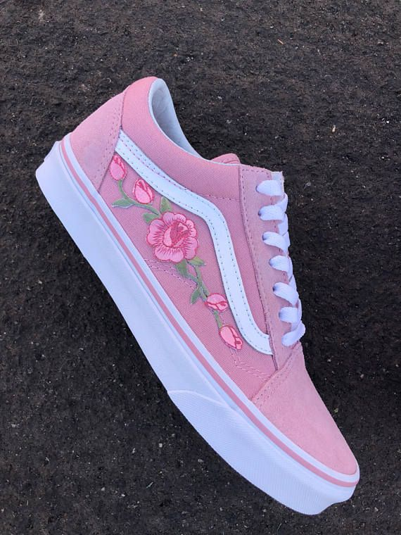 63ae8264d7 Rose vans embroidered vans custom rose vans floral vans