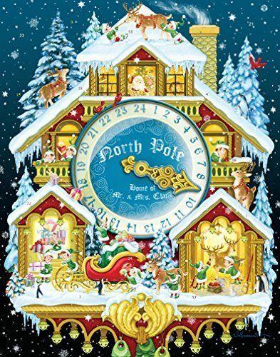 Christmas Advent Calendar Cuckoo Clock with Spinner