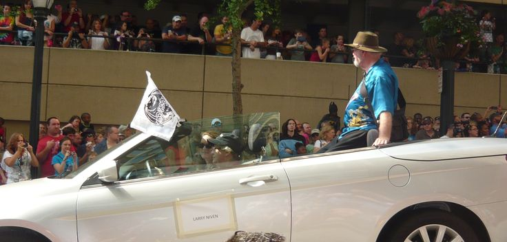 Larry Niven, author of Ring World, at the 2013 DragonCon parade.