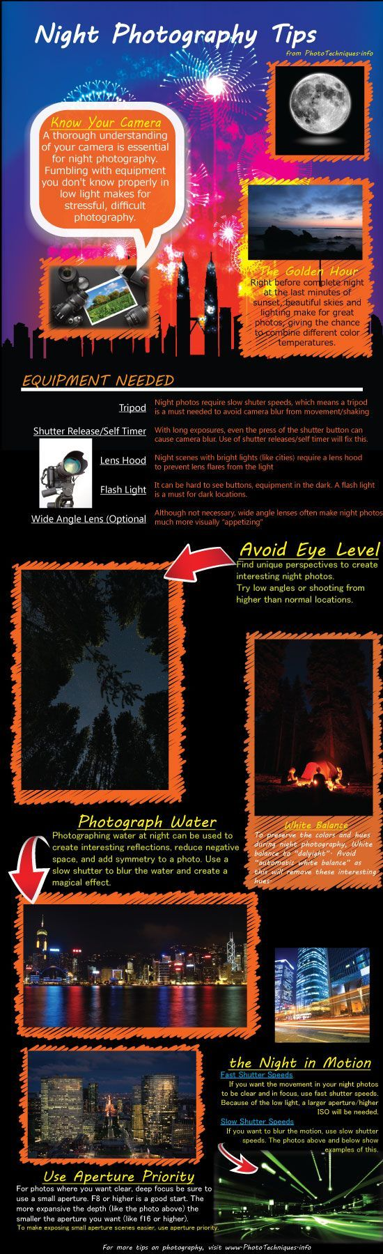 Night Photography Tips To Increase Photo Quality [Infographic]