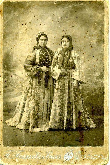Фото из музея г Уральска.1914-уральские казачки.