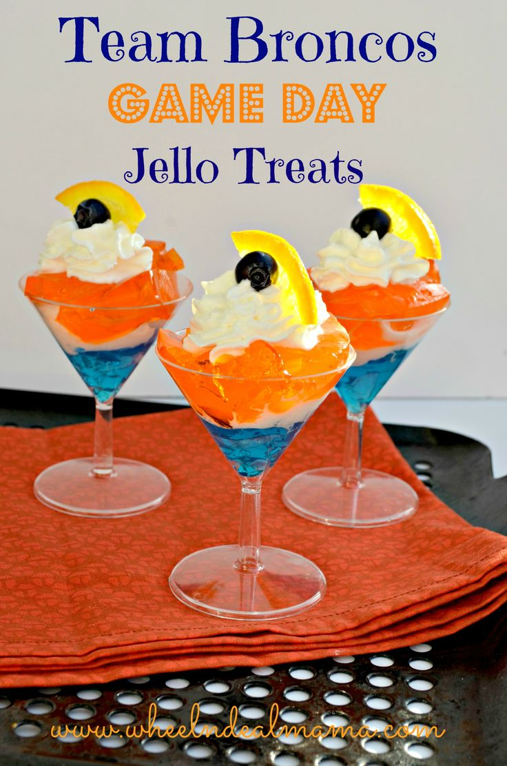Team Broncos Game Day Jello Treats - Perfect for your Superbowl parties!!