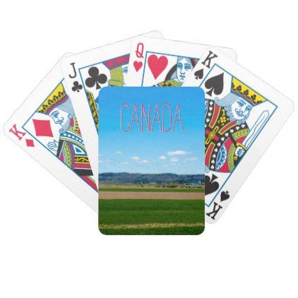 #Text Template | Canadian Countryside Bicycle Playing Cards - #travel #trip #journey #tour #voyage #vacationtrip #vaction #traveling #travelling #gifts #giftideas #idea