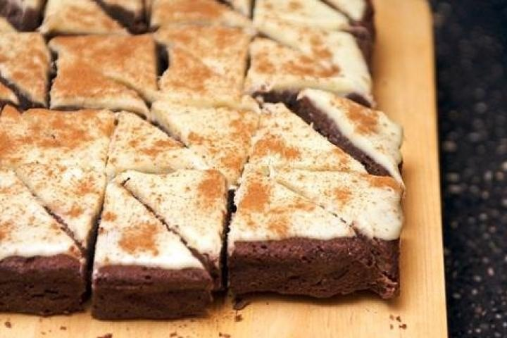 Cappuccino Brownies with Cream Cheese frosting