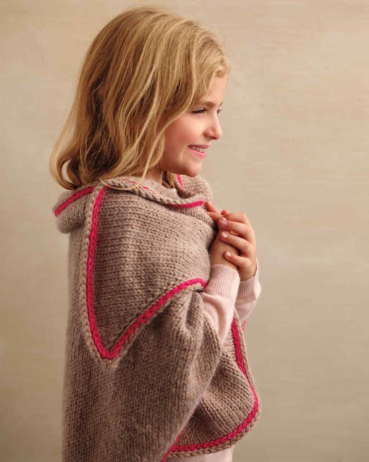 If you can't be there every minute of every day to offer a hug, this warm shawl is the next best thing. The simple pattern calls for a basic stockinette stitch; it's just the kind of project you can work on while you relax and watch a movie at home.