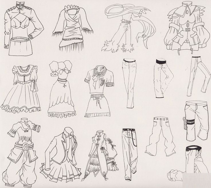 Cartoon Characters Clothes : How to draw cartoon clothes the