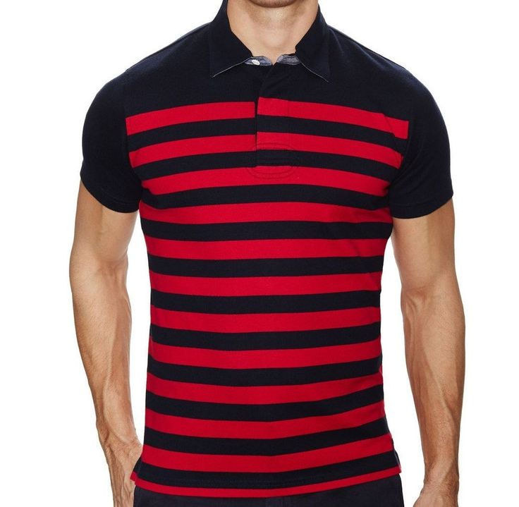 Brooks Brothers Red Fleece Men\u0026#39;s Polo Red Blue Striped L Large #BrooksBrothers #PoloRugby