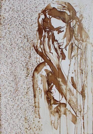 "Saatchi Art Artist Donatella Marraoni; Painting, ""I follow your voice"" #art"