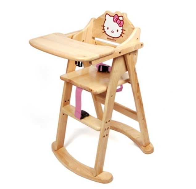 Hello Kitty High Chair For Baby Folding Wooden Baby