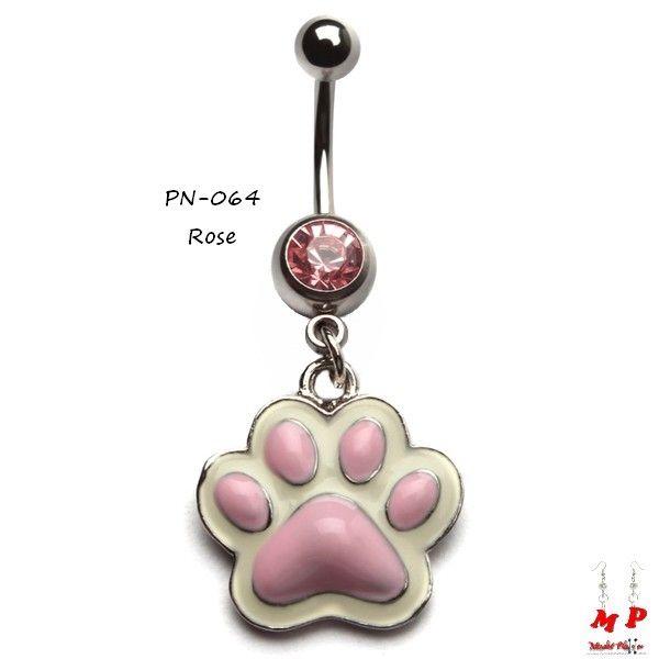 Sélection de piercings nombril pendentifs à petits prix sur Modet Plaisirs. Piercing nombril pendentif empreinte de patte de chien rose. Matière: Acier chirurgical.