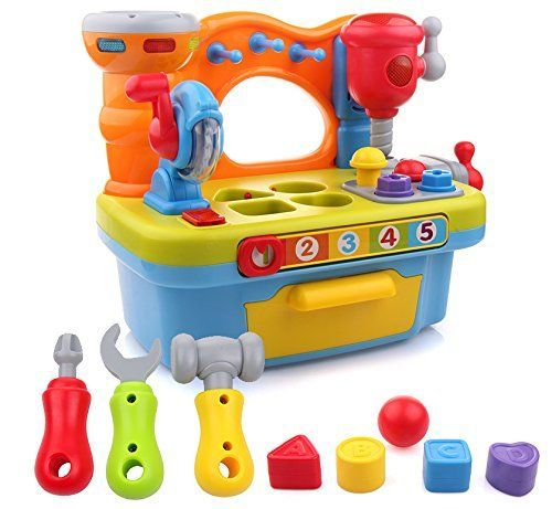 Little Engineer Multifunctional Kids Musical Learning Tool Workbench by Liberty Imports -- Check out @