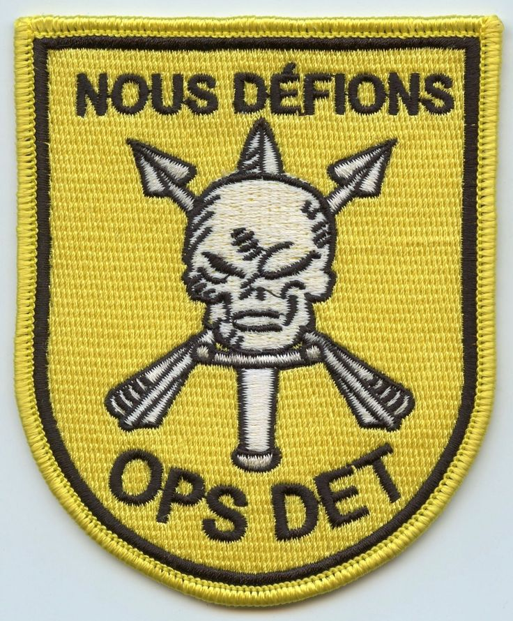 C-1-1 OPS DET COMMANDERS in EXTREMIS FORCE (CIF) 1st Special Forces Group Patch