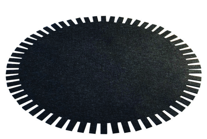 Carpet SUN Design: MAAJO Size: 1.30 m Material: 100% wool, back side with rubber coating