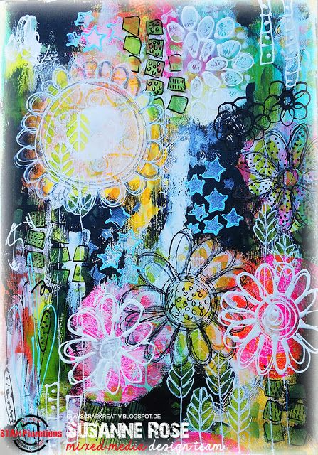 Susanne Rose Designs: Art Journal Play with STAMPlorations