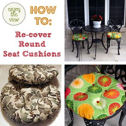 {enjoy the view} | how to recover round pillows