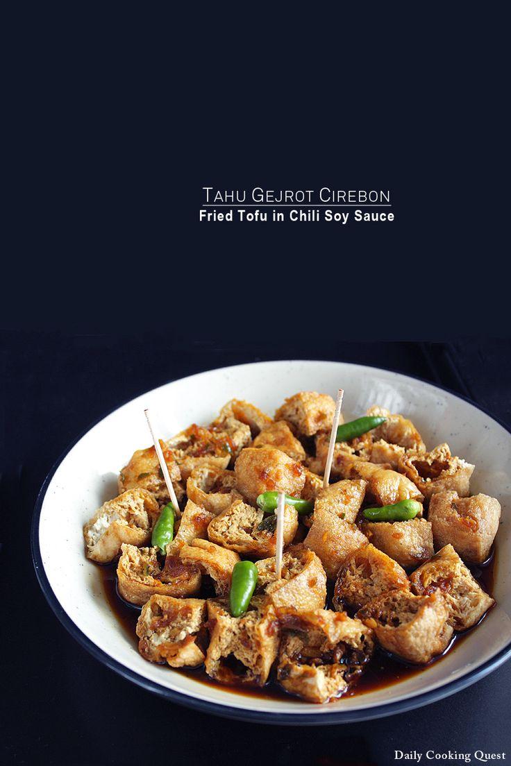 Tahu Gejrot Cirebon - Fried Tofu with Chili Soy Sauce