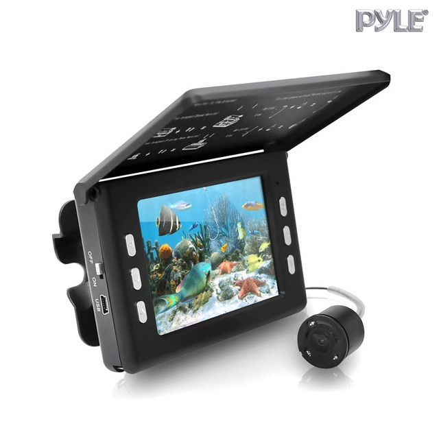 """Pyle Underwater Fishing Camera & Video Record System with 3.5"""" LCD Monitor"""