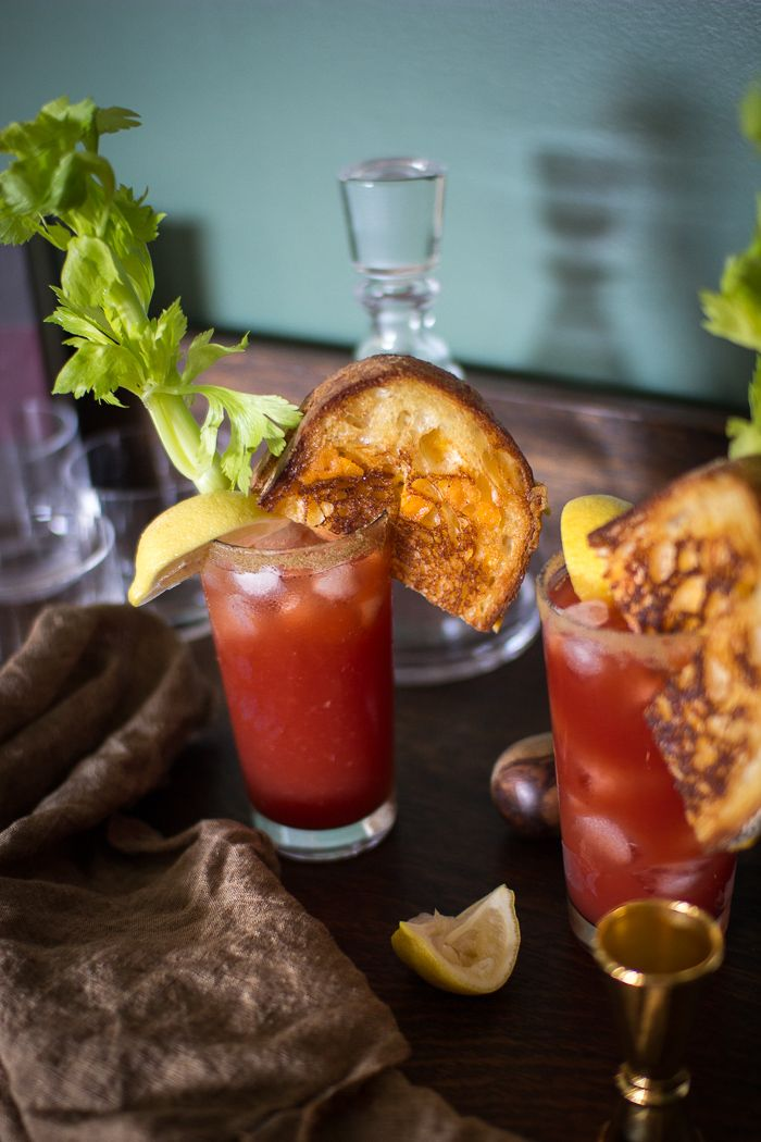 Beer And Tomato Juice Bloody Mary Drinks