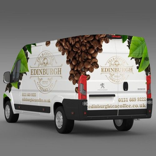 Design a show stopping Van Wrap for Edinburgh Tea and Coffee Co. Design by wong ndeso76