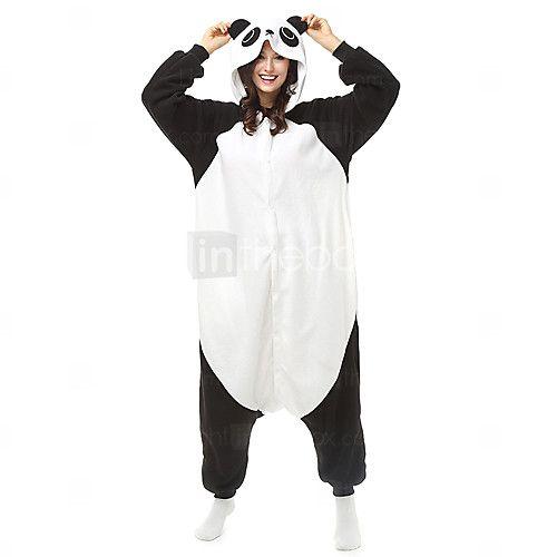 Kigurumi Pijamas Oso Panda Leotardo/Pijama Mono Festival/Celebración Ropa de Noche de los Animales Halloween Negro/BlancoBloques / 2017 - $723.24