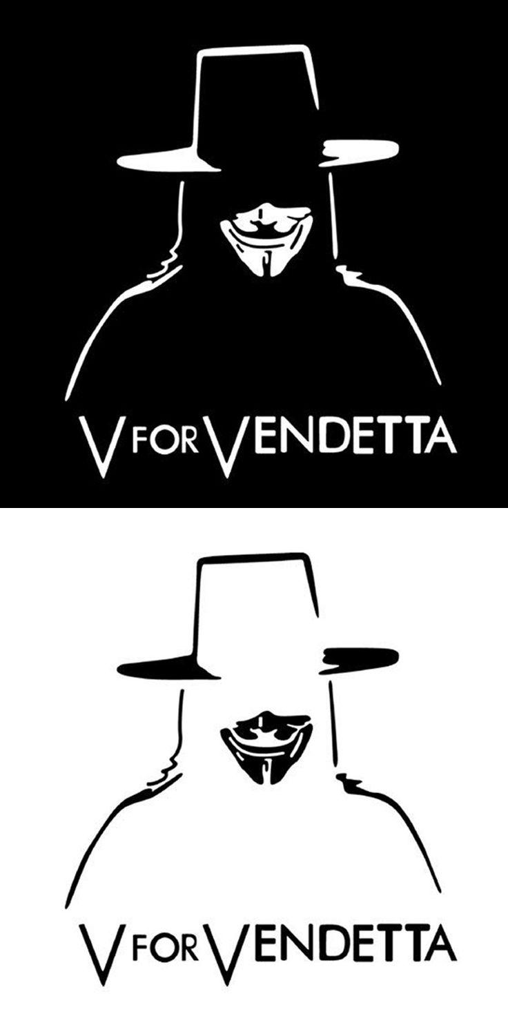 VFOR VENDETTA Reflective Car Stickers Decorative Garlands V For Vendetta Mask Rangers Personalized Custom Car Stickers CT-407