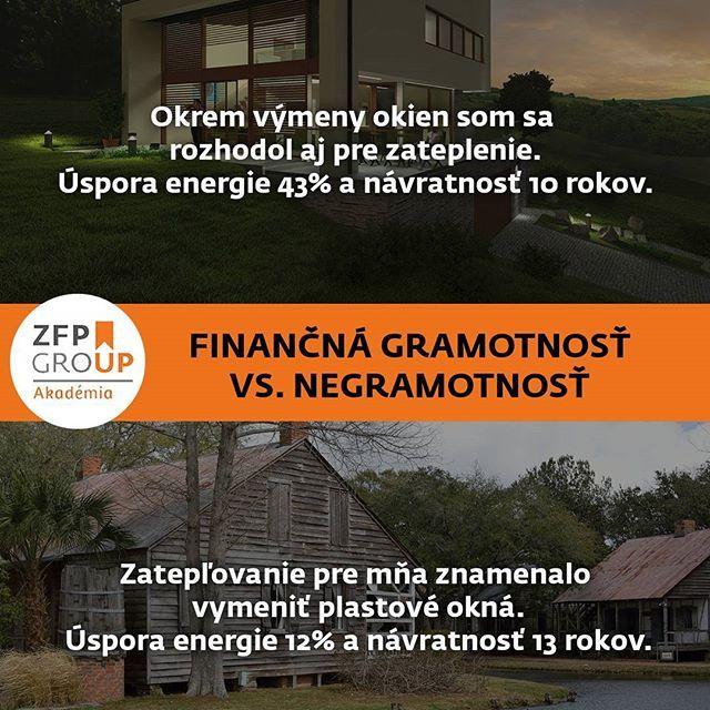 Zimné obdobie sa blíži a práce na zatepľovaní by mali finišovať. Ako ste na tom vy? #zfp #zfpa #zfpakademia #rozdiel #zima #gramotnost #slovensko #financie #vzdelavanie #up #energie #energia #vykurovanie #vetranie #setrit #financie #akonato #financnagramotnost