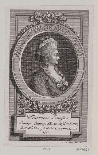 Frederika Louisa of Hesse-Darmstadt, Queen of Prussia (1751-1805) daughter of Louis IX, Landgrave of Hesse-Darmstadt. Will, J.M. : Augsbourg (publisher)c.1786-1800.