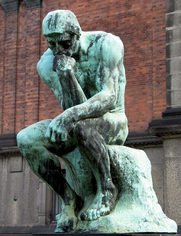 Our ability to think, to process, to understand. (The Thinking Man statue)