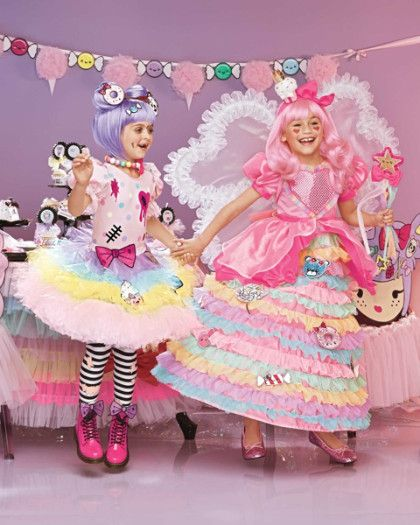 harajuku lovers® kawaii candy fairy princess and zombie girl costume - exclusively ours - Do you like candies? Fairies? Super cute things? This is the gown for you! The sweet dress is a delightful mix of ruffles, layers, sparkles and glitter. You'll find a big heart that shimmers with tiny dots, sparkly candies and a big back bow. After all, when it comes to harajuku, more is better. #halloween #costume