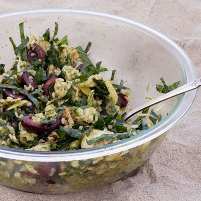 Kale and Chicken Brown Rice Salad with Cherries | SAVEUR
