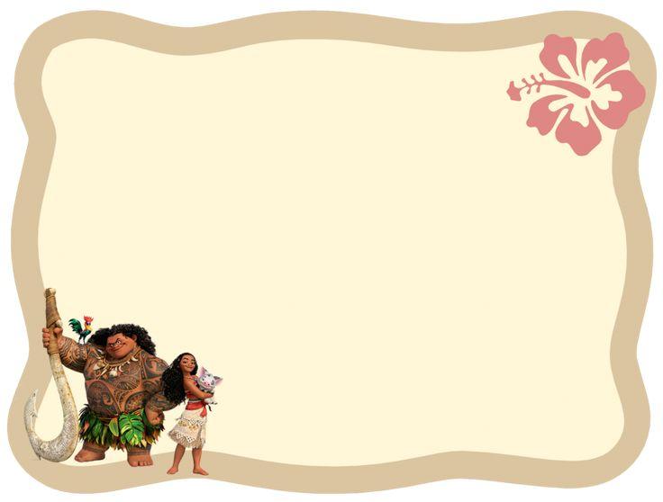 modèle de carte Maui et Vaiana au format png
