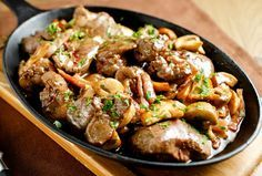 Ficăței de pui cu bacon și ciuperci | Retete culinare - Romanesti si din Bucataria internationala