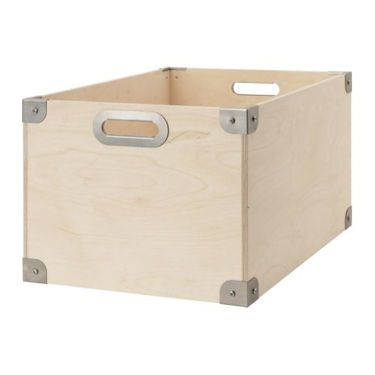 IKEA SNACK box Stackable. Easy to pull out and lift as the box has handles.