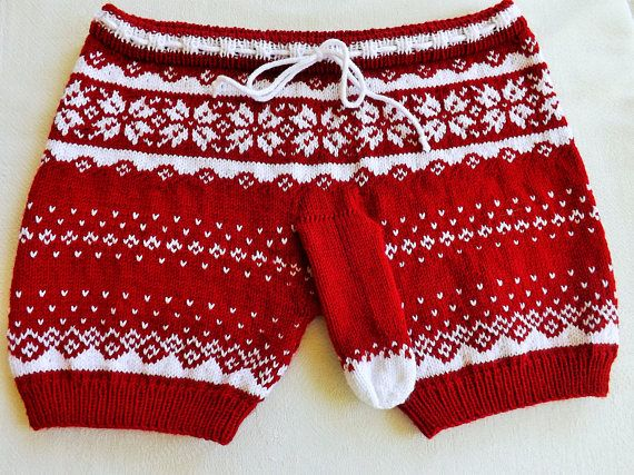 Mens underwear Knitted shorts Gift for him Knitted mens