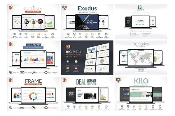 80 in 1 Powerpoint and Keynote by Zacomic Studios on @creativemarket