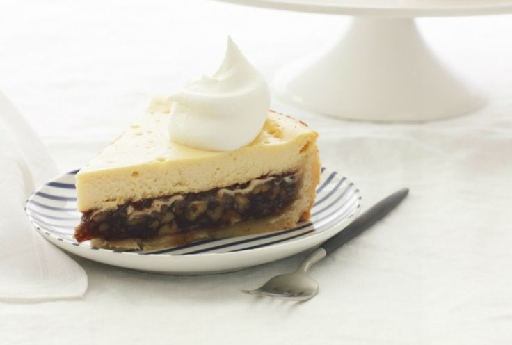 Pecan Pie Cheesecake with Brown Sugar Cream