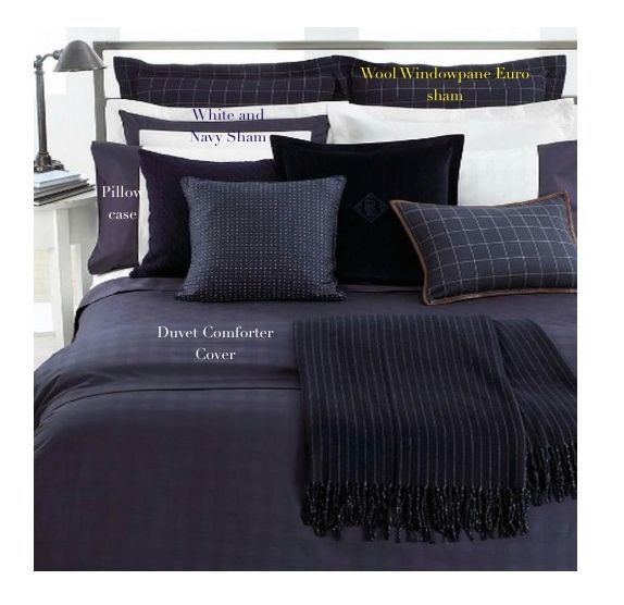 RALPH LAUREN Suite GLEN PLAID NAVY KING DUVET 10PC SET Use all 4 seasons! NWT #RalphLauren #TraditionalTransitionalModernMasculine